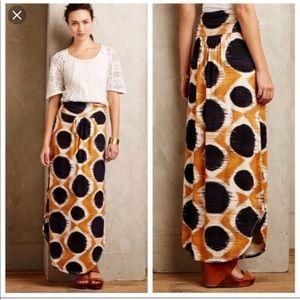 NWT Anthropologie Maeve Melo Polka Dot Maxi Skirt